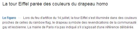 Le titre du Figaro