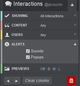 Notifications sonores sous TweetDeck