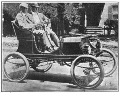 La première voiture Franklin, en 1902
