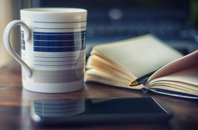 Café, mobile, carnet