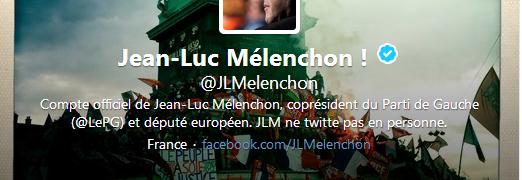 Twitter : Jean-Luc Mélenchon et son CM.