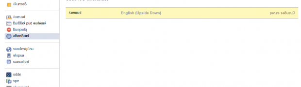 Facebook : English Upside Down